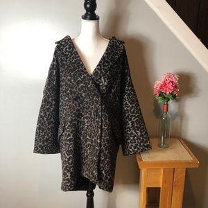 NEW Coach Ocelot Wool Leopard Print Coat